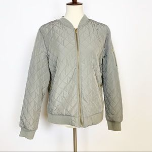 Artisan NY | Grey Quilted Members Only XL
